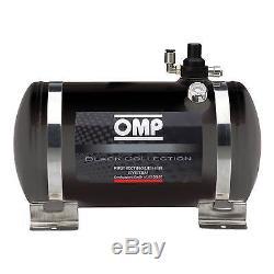 OMP Black Collection Electrical Steel Bottle Fire Extinguisher System 4.25 Ltr
