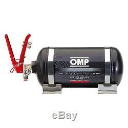 OMP Black Collection Mechanical Steel Bottle Fire Extinguisher System 2.8 Ltr