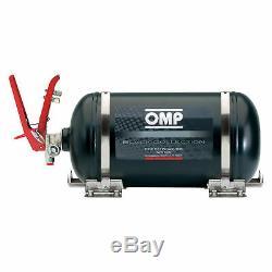 OMP Black Collection Mechanical Steel Bottle Fire Extinguisher System 4.25L