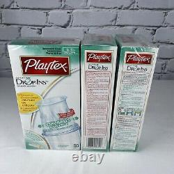 Playtex Drop Ins System 5 Bottle Starter Set PLUS 150 Disposable Liners NEW