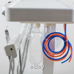 Portable Dental Delivery Unit Cart System Mobile Standard + Foot pedal + bottle