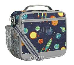 Pottery Barn Kids Solar System Large Backpack, Lunch Box, Water Bottle, Notebook