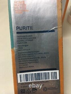 Puritii Water Bottle 25 oz Water Purification System with Sealed Filter Bundle NEW