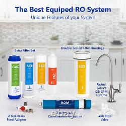 Reverse Osmosis Water Filtration System RO plus 4 Free Filters 50 GPD