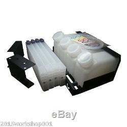 Roland Bulk Ink System - 4 Bottles, 4 Cartridges
