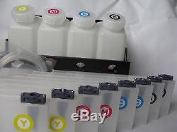 Roland FH-740 XF-640 Bulk Ink System 4 Bottle 8 Cartridge Continuous Ink Supply