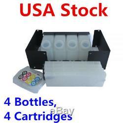 Roland Mimaki Bulk Ink System with Vertical Cartridges 4 Bottles, 4 Cartridges