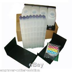 Roland RA-640 / RE-640 VS-540 Bulk Ink System 4 Bottles 8 Cartridges