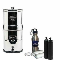 Royal Berkey Filter System with 2 Black Berkey & 2 PF-2 Fluoride Filters & Bottle