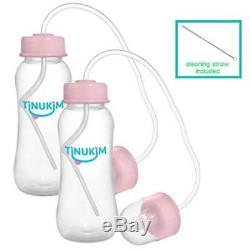 Set Of 2 Tinukim Hands Free Baby Bottle Anti-Colic Nursing System 9 Ounce  Ne