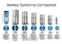 TRAVEL BERKEY Water Filter System with 2 Black Elements Filters and Sport Bottle
