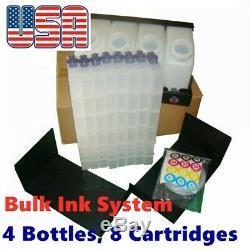 US Roland RA-640 Bulk Ink System Vertical Cartridges 4 Bottles, 8 Cartridges