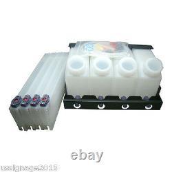 US Stock Roland Mimaki Bulk Ink System 4 Bottles, 4 Cartridges