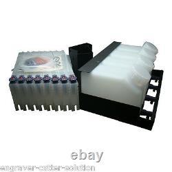 US Stock Roland Mimaki Bulk Ink System - 4 Bottles, 8 Cartridges