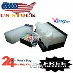 US Stock Roland Mimaki Printer Bulk Ink System 4 Bottles+4 Cartridges