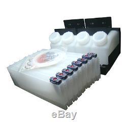 USA-4 Bottles, 8 Cartridges Roland Mimaki Mutoh Bulk Ink System