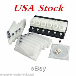 USA Roland Mimaki Bulk Ink System-6 Bottles, 12 Cartridges