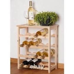 Wine Bottle Rack Holder Stand Shelving System Cabinet For 16 Bottles Kitchen Bar
