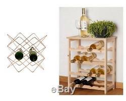 Wine Bottle Rack Holder Stand Shelving System Cabinet For Kitchen Bar NEW