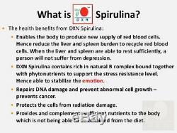 10 Bouteilles De Dxn Spiruline 500 Comprimés Booster De Système Immunitaire Antioxydant Organique