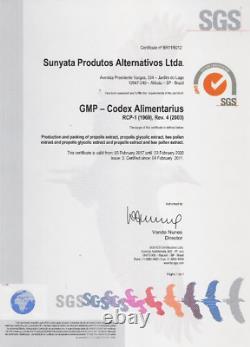 12 Bouteilles X 30 ML Extrait Alcoolique De Propolis Verte Brésilienne Sunyata Golden Lot