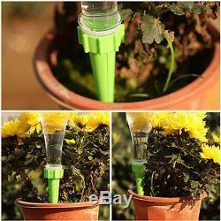 2x Jardin Cône D'arrosage De Spike Fleur Plante Abreuvoirs Bouteille Système D'irrigation Nouveau