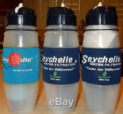 3 Bouteilles D'eau Avec Système De Filtration Filtre À Eau Portable Seychelle