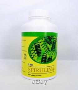 4 Bouteilles De Spiruline Dxn 500 Comprimés X 250 Mg De Propulseur Du Système Immunitaire Detox Organique