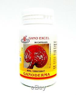 5 Bouteilles Gano Excel Ganoderma 90 Capsules Reishi Lingzhi Stimule Du Système Immunitaire