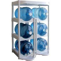 5 Gallon En Plastique Réservoir De Stockage De Bouteille D'eau Rack Support D'unité Shelve Système