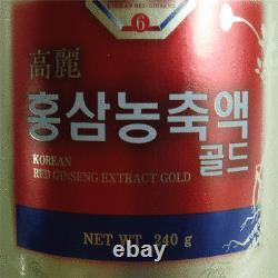 6 Ans Coréen Red Ginseng Extrait D'or (240g1bottle) / Fatigue De Récupération