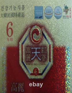 6 Ans Coréen Rouge Ginseng Extrait D'or 240 G 1 Bouteille / Navire Pour Vous Ems