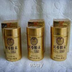 6 Ans Korean Heaven Red Ginseng Powder Gold (100 G 3 Bouteilles)/ship To You Ems