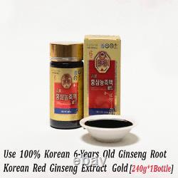 6 Ans Korean Red Ginseng Extract Gold (240 G 5 Bouteilles) / Expédier À Vous Ems