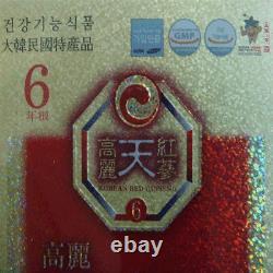 6-ans Korean Red Ginseng Extrait Or(240g3bottles) / Vigueur De Récupération