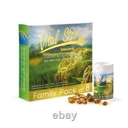 8 Bouteilles Vital Star Rice Bran Germ Oil Gamma Oryzanal Augmenter Le Système Immunitaire