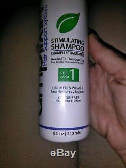 Amplixin Shampooing Stimulant Système De Soutien Des Cheveux Nouveau Etanche Bouteille 8oz