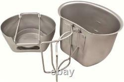 Bcb 7 Pièces Crusader Système De Cuisson Mug En Métal Cuisinière Osprey Bouteille Pouch LID