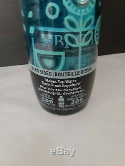 Brita Floral Bleu Rigides Bouteille D'eau Système De Filtration 23,7 Oz Marque Nouveau