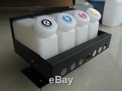 Bulk Ink System-4 Bouteilles, 8 Cartouches Pour Mutoh Vj-1604 Roland Xr-640 Xf-640