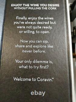 Coravin 1000 Pressurize Pour Wine System Bouteille Opener Sealer Taster Preserver