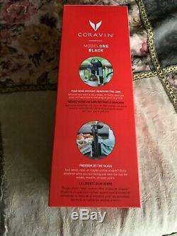 Coravin Model One Black Wine Système De Préservation Avec 5 Capsules Marque Nouveau