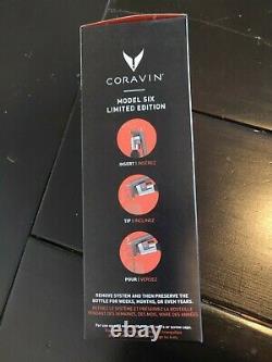 Coravin Model Six Limited Edition Mica Wine Preservation System Nouveau Dans La Boîte