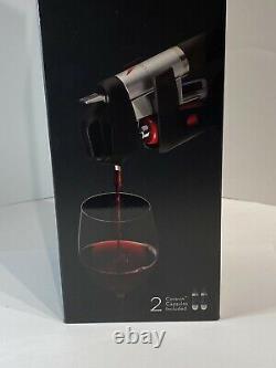 Coravin Modèle 1000 Système De Vin Avec Capsules Inclus Base Bouteille Manche Nouveau