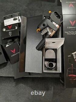 Coravin Modèle 1000 Système De Vin Orig. Boîte Capsules Base Bouteille Manches Ouvertes