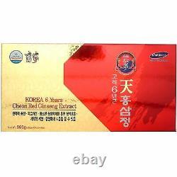 Coréen 6 Ans Racine Rouge Ginseng Extrait 960g (240g X 4 Bouteille) Panax Ginseng