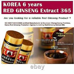 Dhl Express Coréen 6 Ans Red Ginseng Extrait 365, Saponin, Panax 240g X 4ea