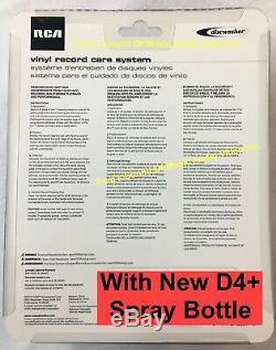 Discwasher Enregistrez System Cleaner Brosse D4 + Nouveau Vaporisateur De Liquide Kit Complet