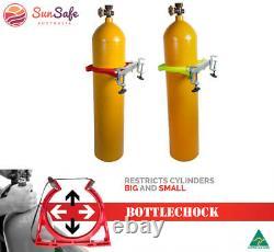 Lab Bracket Bouteille Chock Support De Banc Système De Retenue Bottlechock