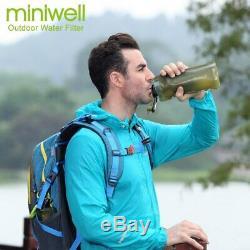 Miniwell Nouveau Système De Filtration Conception De Camping Avec Bouteille Pliable Eau Pour
